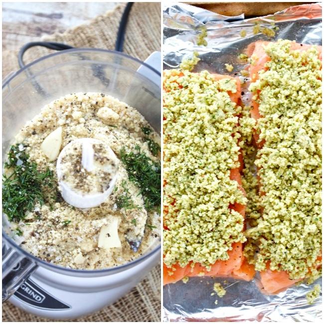 Almond Crust and Salmon