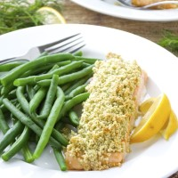 Almond Crusted Salmon {Whole 30}