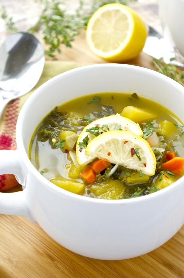 Kale and Acorn Squash Sou