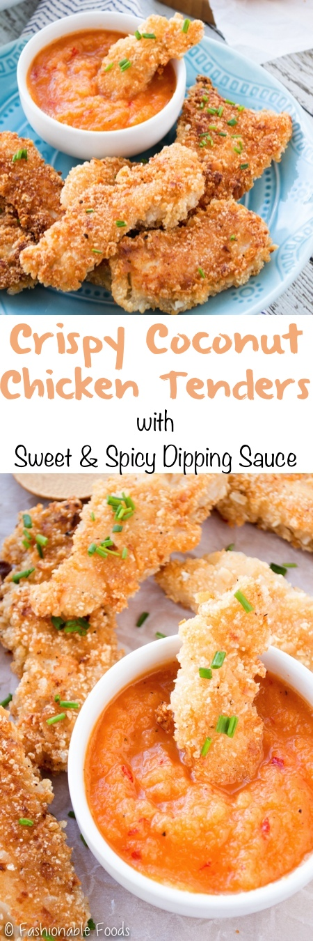 Crispy Coconut Chicken Tenders Pin