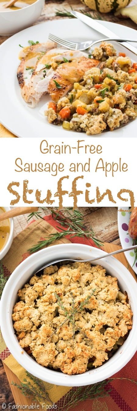 Grain Free Sausage and Apple Stuffing