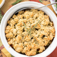 Grain Free Sausage and Apple Stuffing {Paleo}