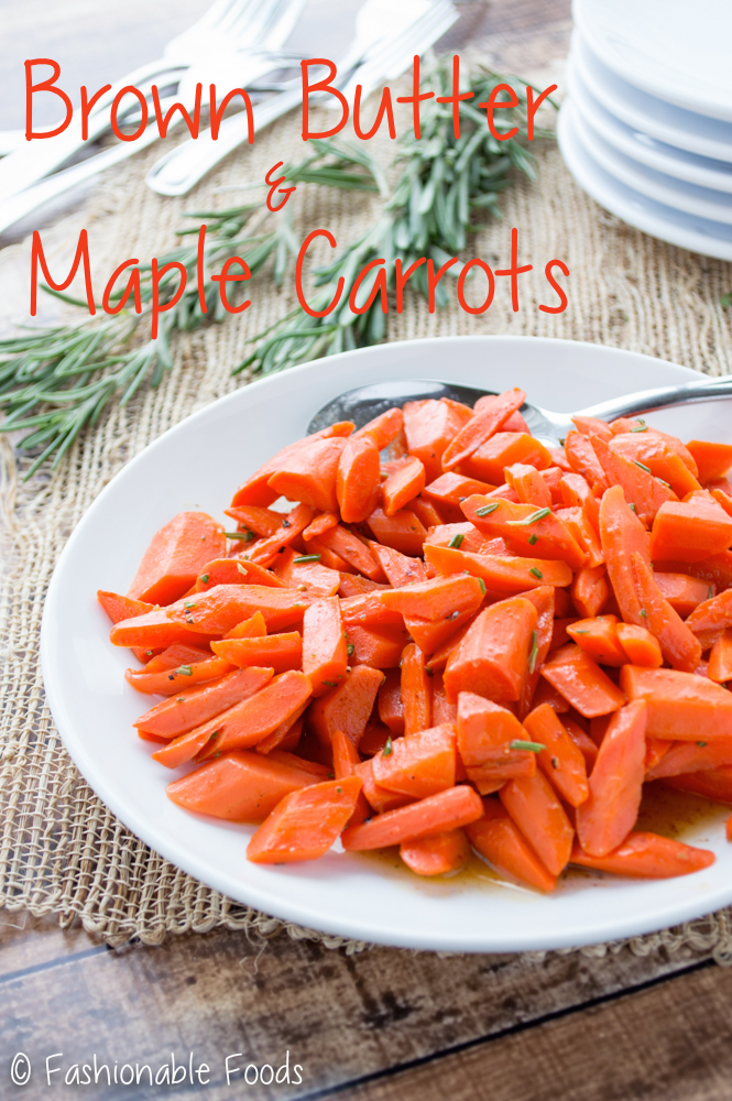 Brown Butter and Maple Carrots