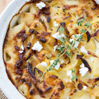 Goat Cheese Scalloped Potatoes