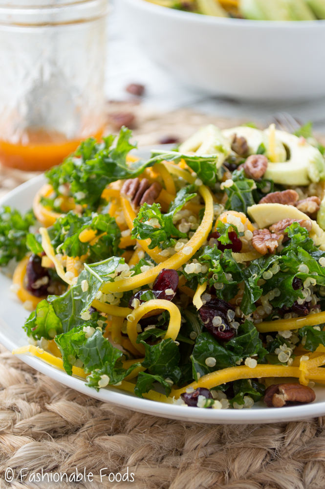 Butternut Squash Salad with Kale and Quinoa