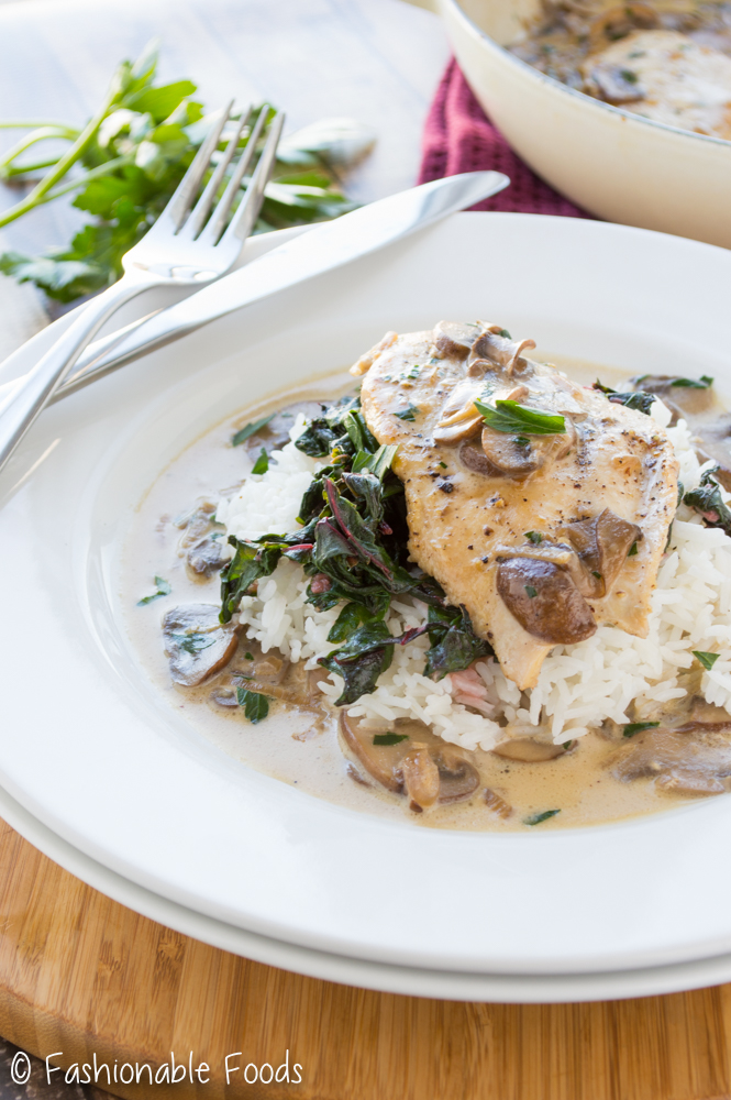 Chicken Cutlets with Mushroom Sauce
