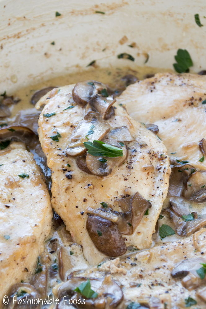Chicken Cutlets with Mushroom Cream Sauce - Fashionable Foods