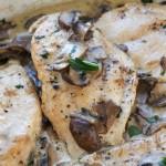 Chicken Cutlets with Mushroom Cream Sauce