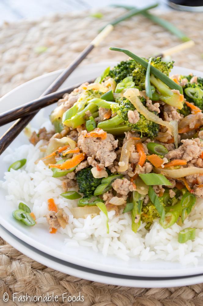 Ground Turkey and Broccoli Stir Fry