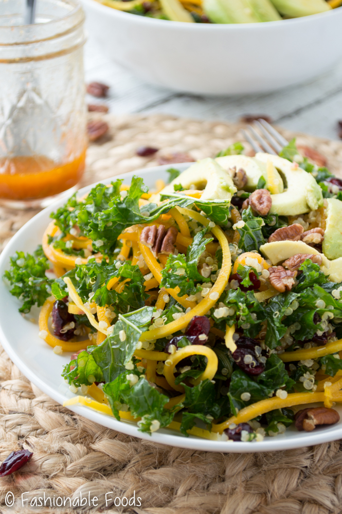 Spiralized Butternut Squash Salad with Kale_