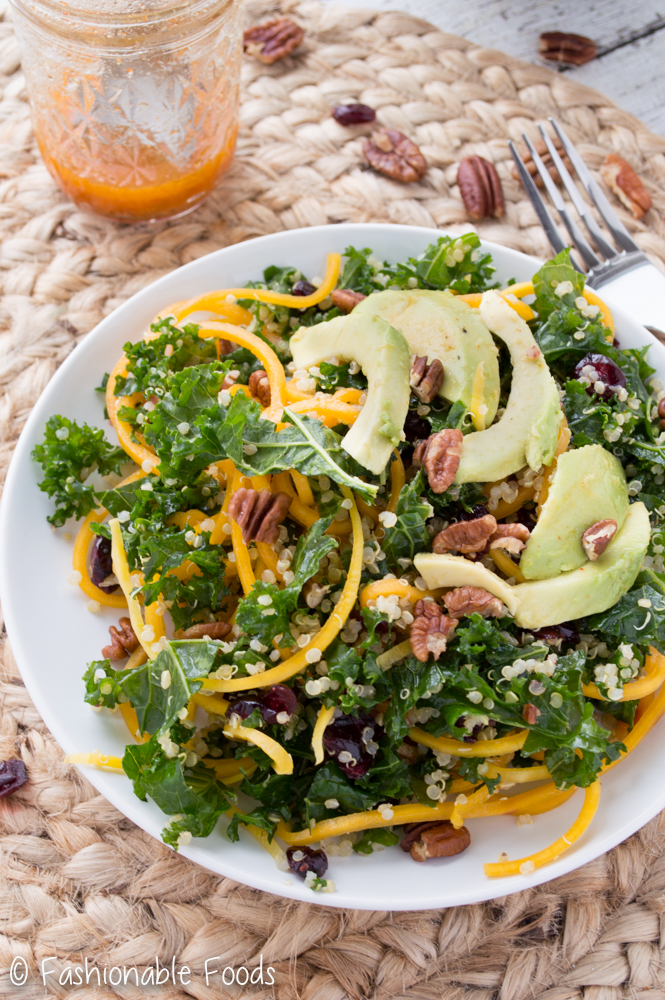 Spiralized Butternut Squash Salad