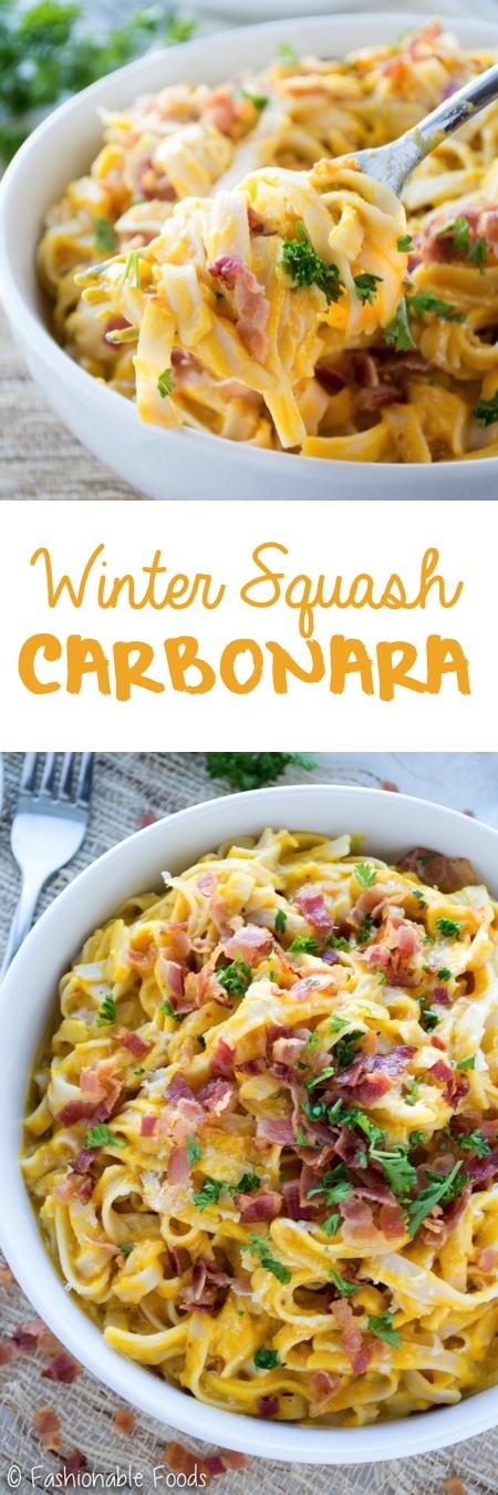 Winter Squash Carbonara