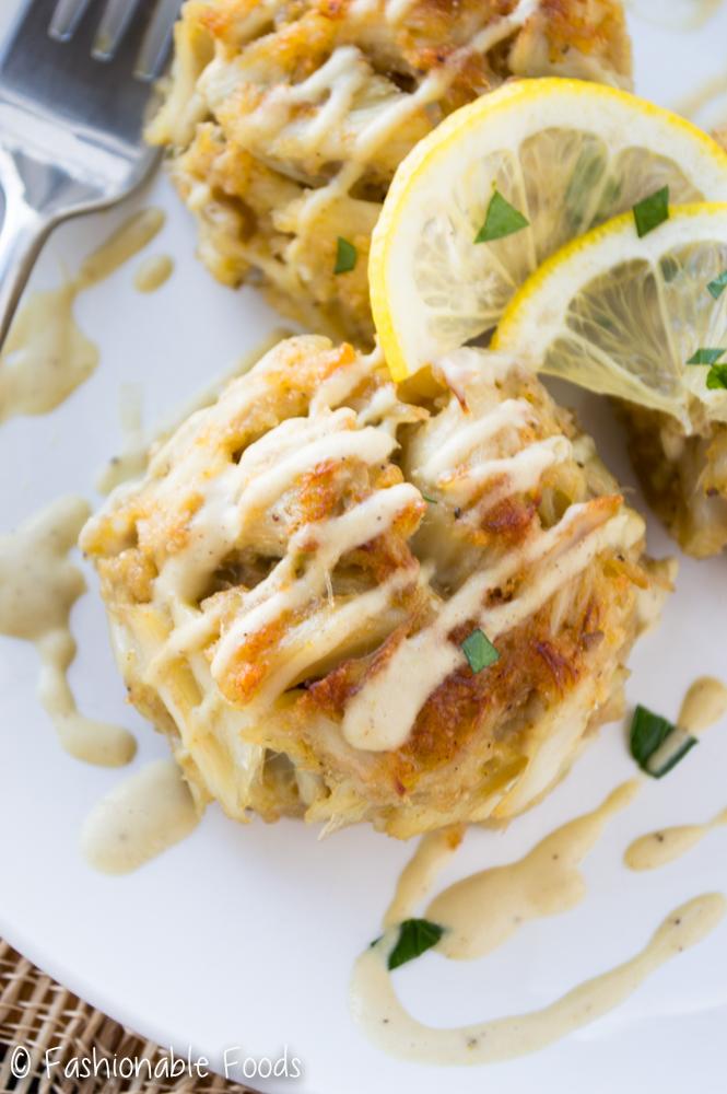 Crab Cake with Creamy Dijon Sauce
