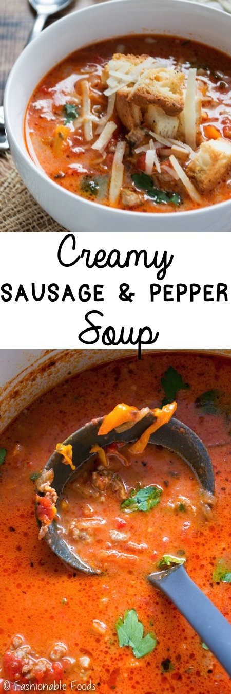 Creamy Sausage and Pepper Soup