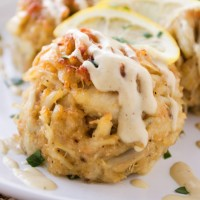 Perfect Crab Cakes {with creamy dijon sauce}