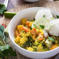 Roasted Root Vegetable Curry {Vegan}
