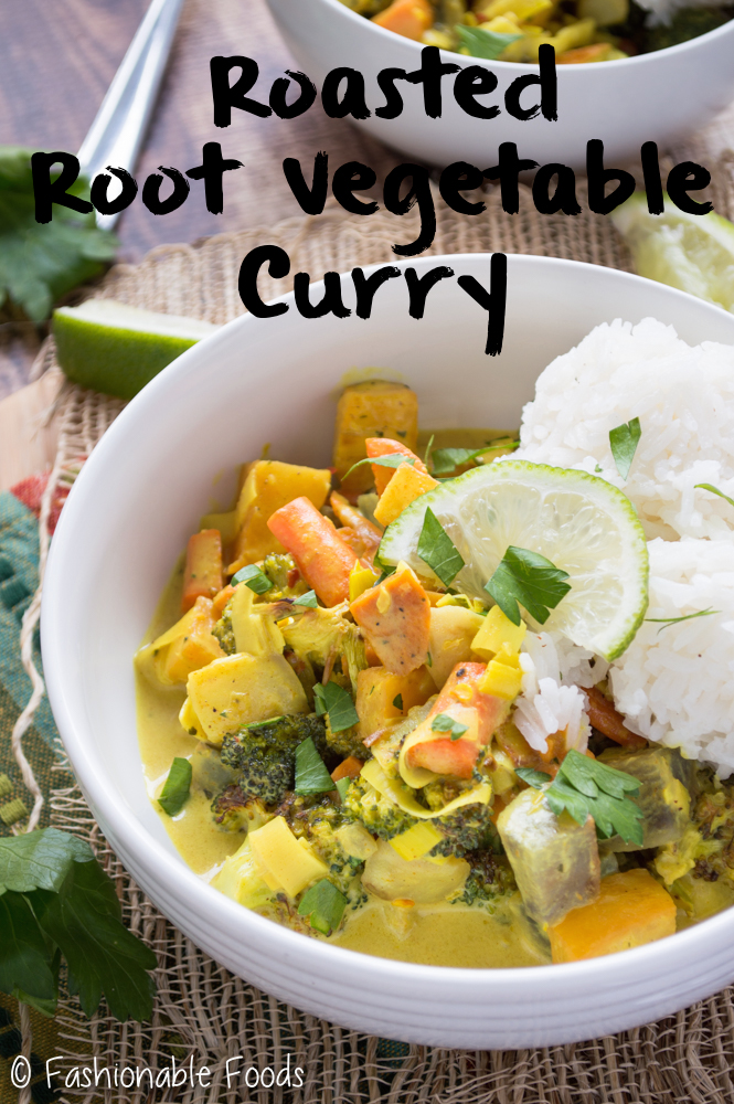 Roasted Root Vegetable Curry {Vegan}