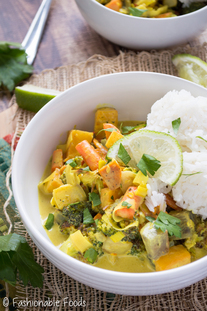 Root Vegetable Yellow Curry