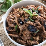 Italian Style Pulled Pork {with Basil-Balsamic Barbecue Sauce}