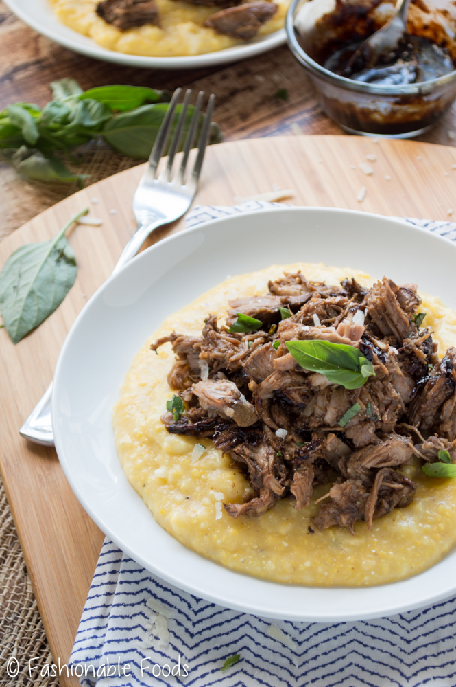 Italian Pulled Pork over Polenta