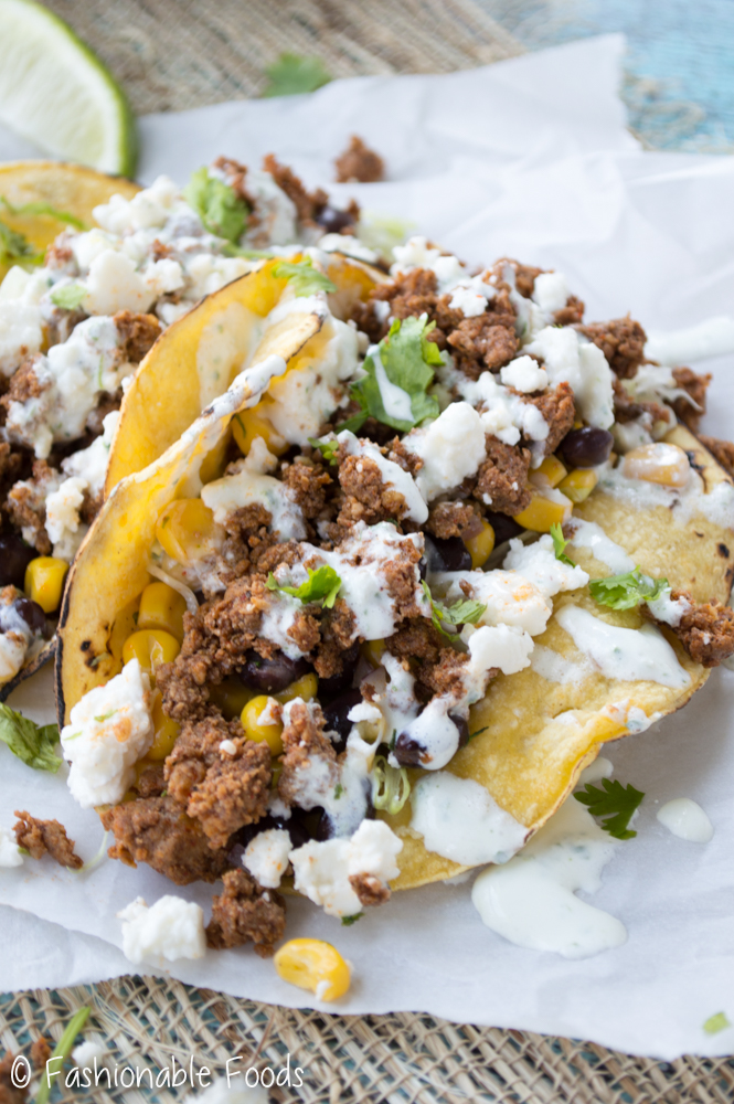 Chorizo Taco with Black Bean Corn Salsa