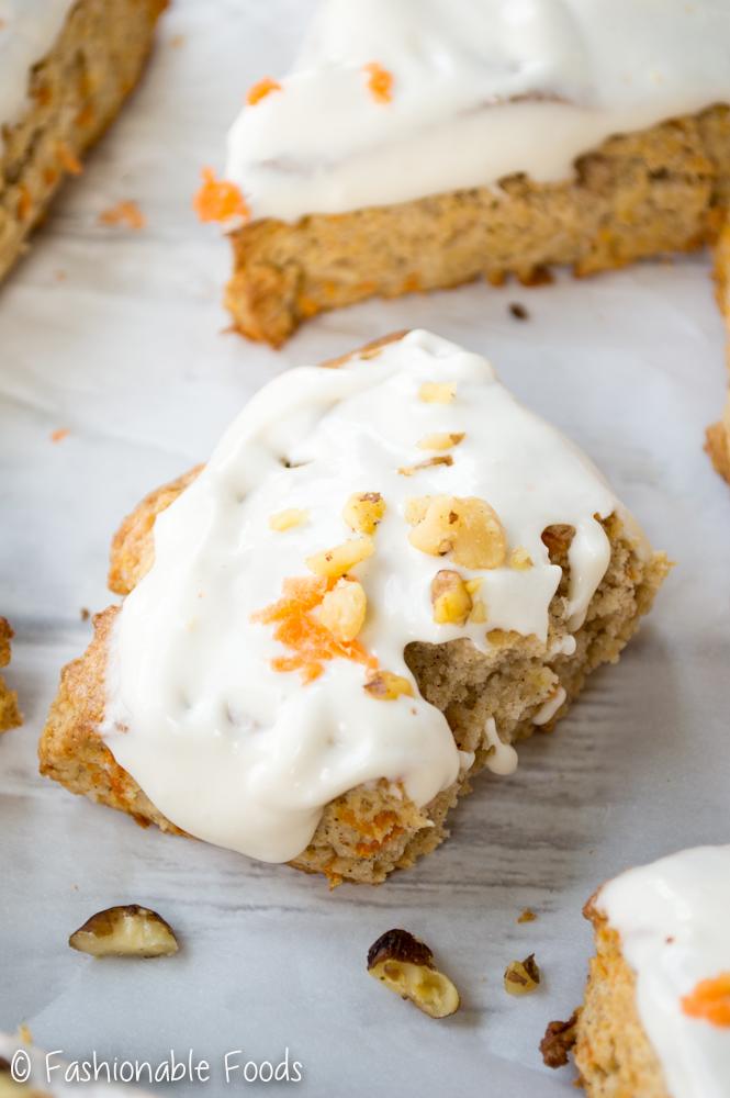 Carrot Cake Scone w Cream Cheese Glaze