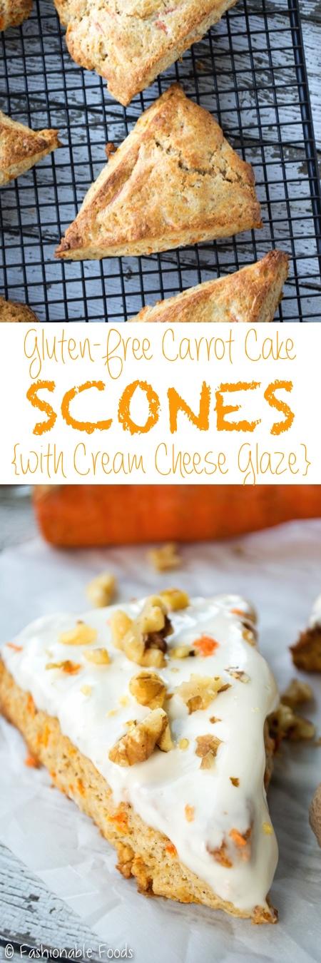 Carrot Cake Scones and Cream Cheese Glaze