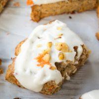 Carrot Cake Scones {with Cream Cheese Glaze}