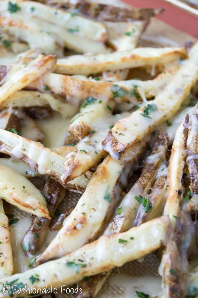 Cheesy Garlic and Parsley Fries