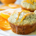 Orange Poppy Seed Muffins {with Orange Yogurt Glaze}