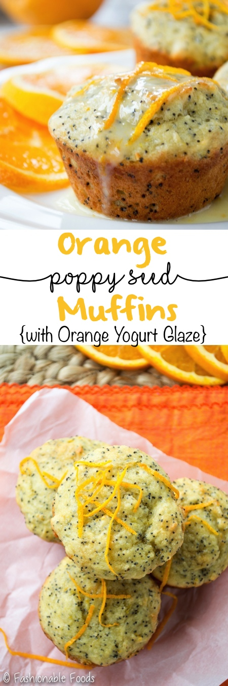 Orange Poppy Seed Muffins with Orange Yogurt Glaze Pin