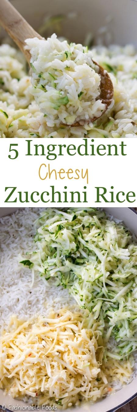 5 Ingredient Cheesy Zucchini Rice Pin