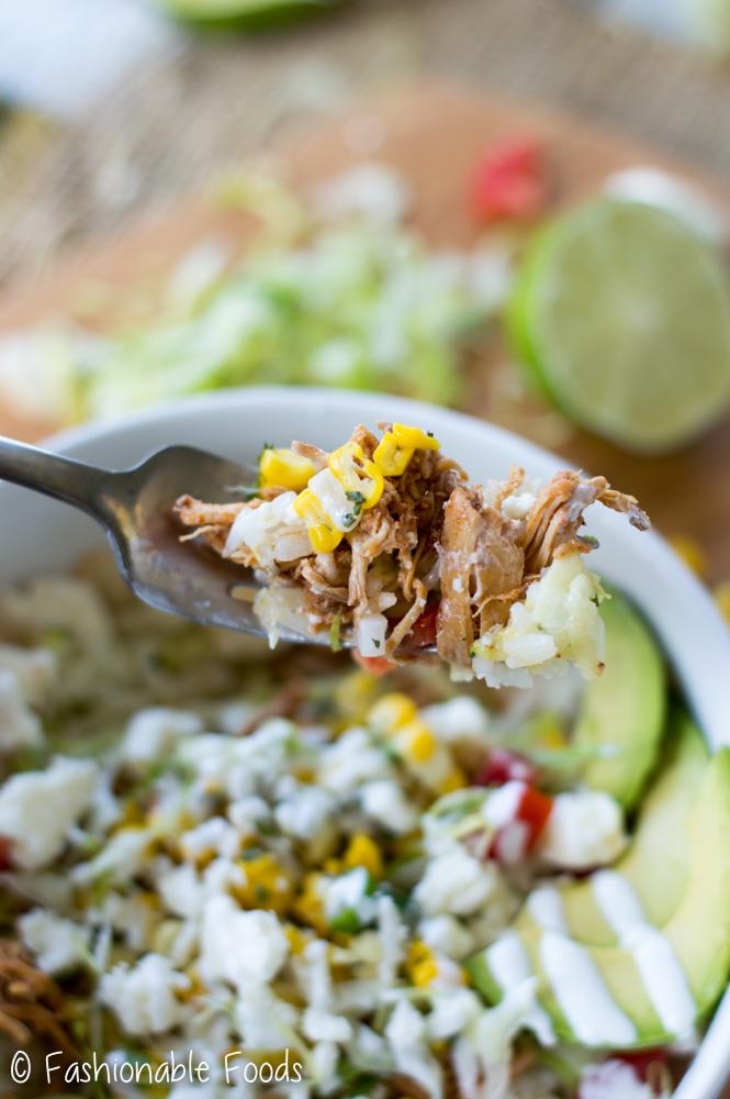 Chicken Burrito Bowl Bite