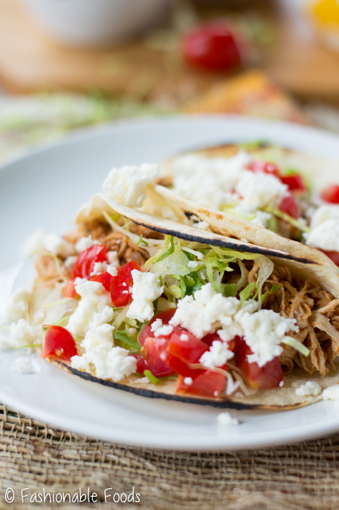 30 Minute Pulled Chicken Tacos