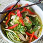 Spicy Thai Chicken Zoodle Soup