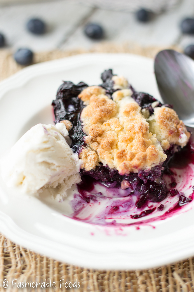 GF Blueberry Cobbler