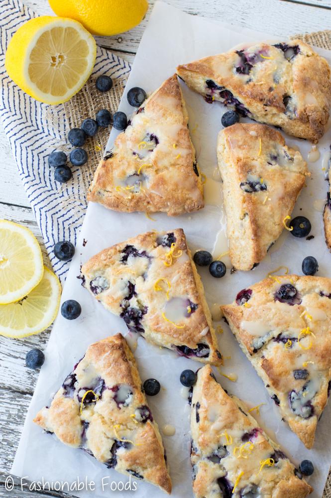 Gluten Free Blueberry Lemon Scones