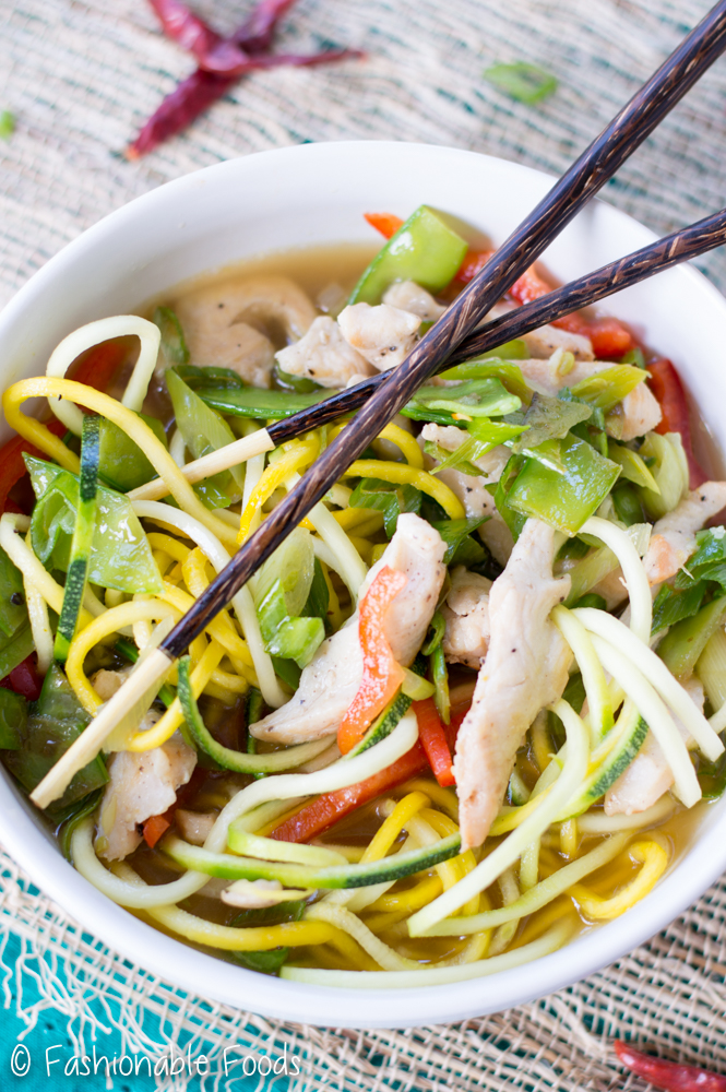Spicy Thai Zoodle Soup
