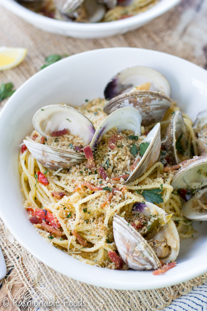 Clam Casino Flavored Pasta Bowl