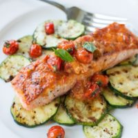 Grilled Salmon with Roasted Tomato Butter