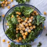 Lemon Parmesan Crispy Chickpeas and Kale Chips