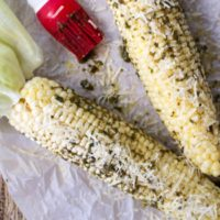 Roasted Corn with Pesto Butter
