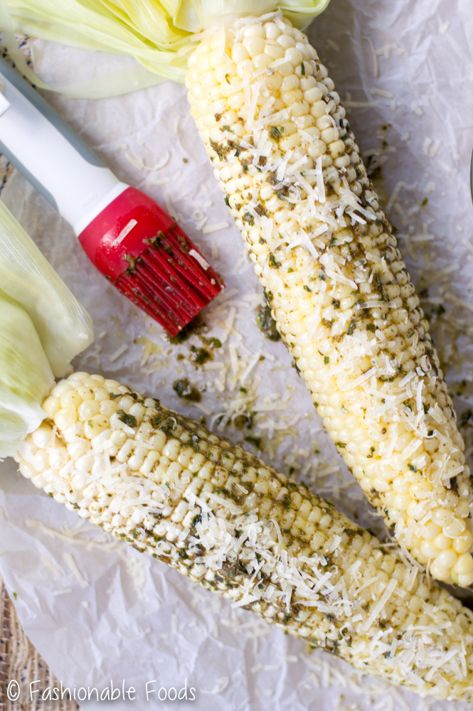 sweet-corn-with-pesto-butter