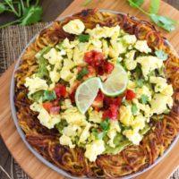 Spiralized Potato Breakfast Pizza {Whole30}