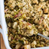 Apple, Bacon, and Brussels Sprout Stuffing