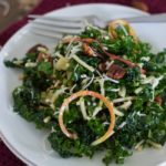 Spiralized Apple, Kale, and Cheddar Salad