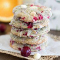 White Chocolate Cranberry Cookies {with Orange Glaze}