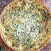 Quinoa Crusted Quiche {with Caramelized Onions and Gruyere}