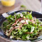 Arugula Salad with Crispy Lentils and Spiralized Apples