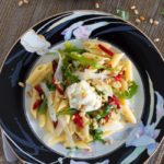 Penne with Arugula, Roasted Red Peppers, and Lemon Ricotta